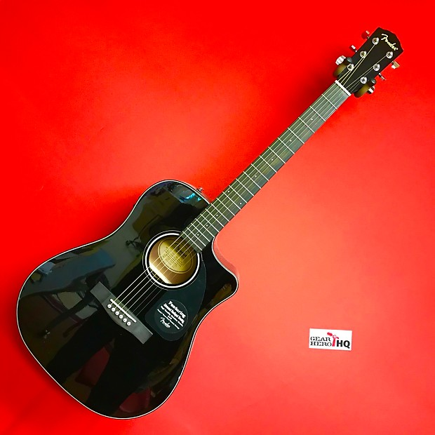 used fender cd 60ce cutaway dreadnought acoustic electric reverb. Black Bedroom Furniture Sets. Home Design Ideas