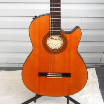 Antares  Thin Body Classical Electric Cutaway Guitar  Natural for sale