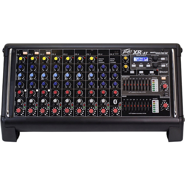 peavey xr at powered mixer 9 ch 1000w auto tune reverb. Black Bedroom Furniture Sets. Home Design Ideas