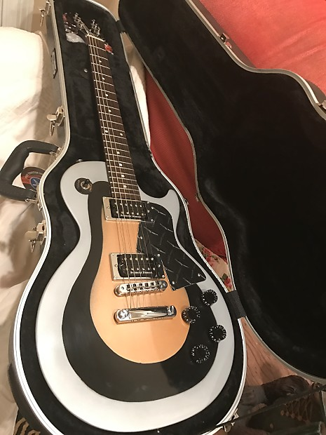 Gibson les paul jr special silver black gold d