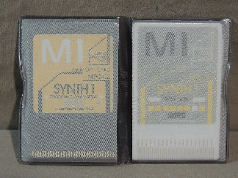 Korg M1 Synth 1 Memory card MPC-02 & MSC-02 FOR M-1 / M1R
