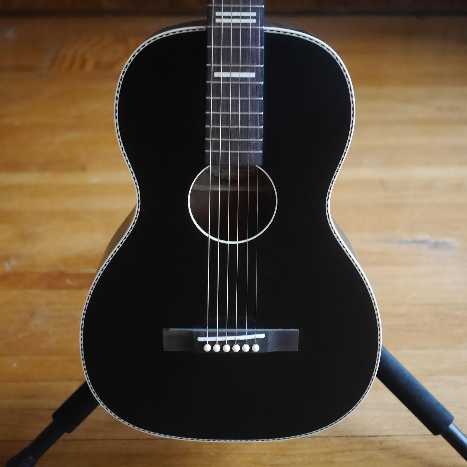 Recording King RPS 7 BK Sing O Shape Acoustic Guitar Matte Black