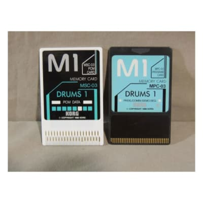 Korg M1 Drums 1 sound cards MSC-03 and MPC-03 for M-1 & M1R [Three Wave Music]