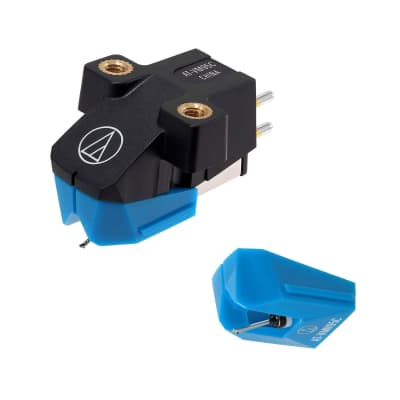 Audio-Technica AT-VM95C Dual Moving Magnet Turntable Cartridge with AT-VMN95C Conical Replacement Turntable Stylus