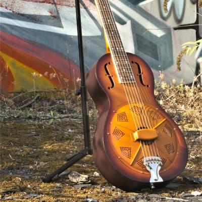 Aiersi guitare résonateur parlor sunburst 2020 sunburst for sale