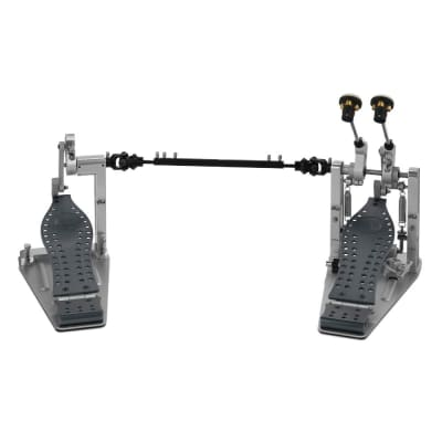 DW Machined Direct Drive Double Bass Drum Pedal With Bag - Grey Finish