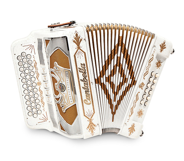Cantabella Button Accordion 12 Bass 34 Keys GCF (SOL) Beautiful From Italy!