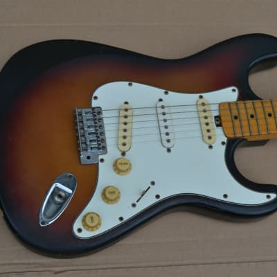 70s Stratocaster Electric Guitar STC ? Thick Trem Block Sunburst Musima ? for sale
