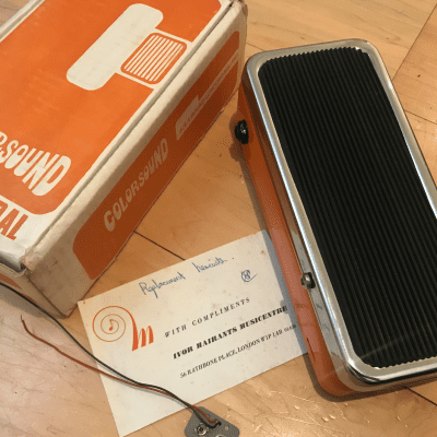 Sola Sound Colorsound fuzz wah  70's orange with box and letter rare pedal great condition for sale
