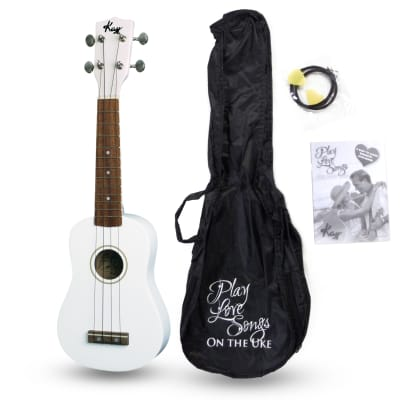 Kay U12PW White Soprano Ukulele Package (Free Shipping) for sale