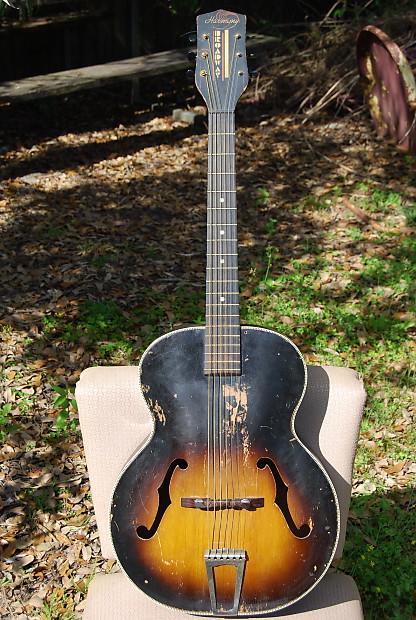 Vintage Harmony Broadway Archtop Guitar Sounds Great!!! Slide Delta Blues