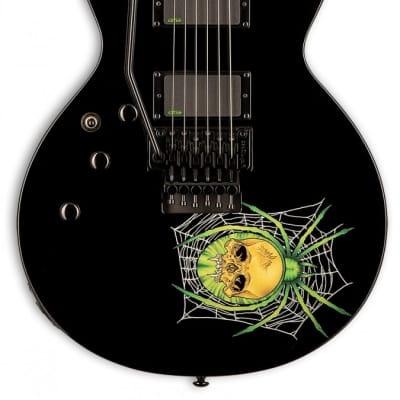 ESP LTD KH-3 Spider - Black with Spider Graphic - Lefty / Left Handed - Reservation !