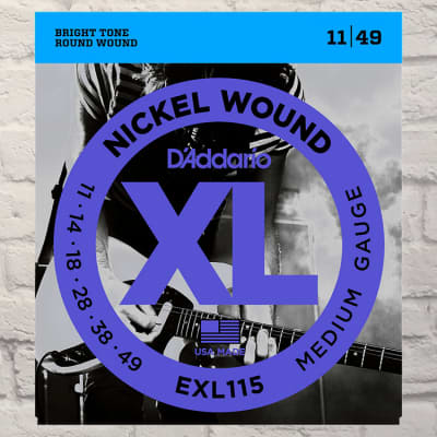 D'Addario EXL115 Medium Nickel Wound Electric Guitar Strings 11-49