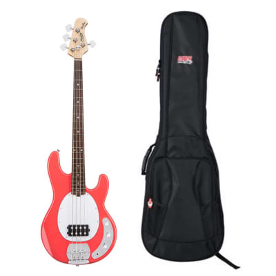 Sterling by Music Man StingRay Fiesta Red + Gator Gig Bag for sale