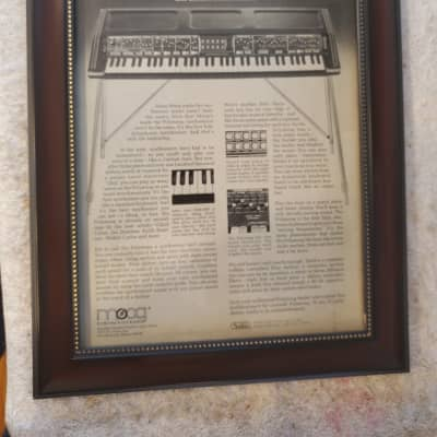 1976 Moog Synthesizers Promotional Ad Framed Moog Polymoog Original