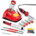 Soldering Station 30W w Helping Hands & 9 pc Accessory Set Free 2 Day Shipping