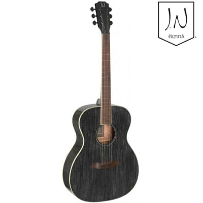 James Neligan YAK-A Yakisugi Series Auditorium Solid Mahogany Top 6-String Acoustic Guitar for sale