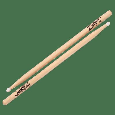 Zildjian 5ANN Hickory Series 5A Nylon Tip Drum Sticks