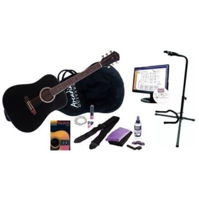 Arcadia DL41 Premium Acoustic Guitar Package, Black for sale