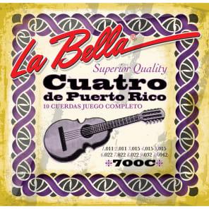 La Bella 700C Puerto Rican Cuatro Strings
