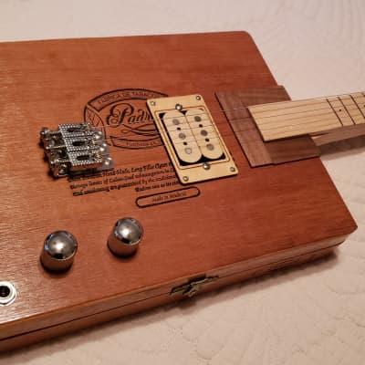 Natural wood, Electric, Fretless, Semi-solidbody Slide Guitar.