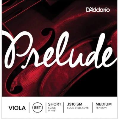 D'Addario J910 SM Prelude Viola String Set, Short Scale, Medium Tension