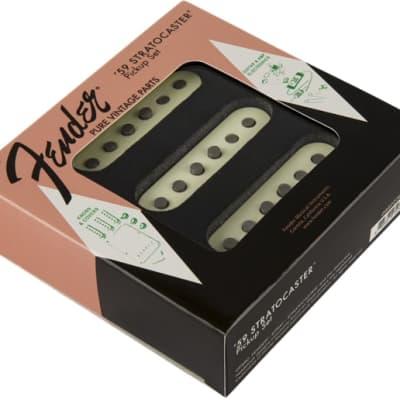 Fender Pure Vintage '59 Strat Pickup Set, Vintage White (3)