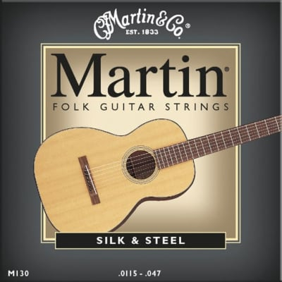 Martin M130 Silk And Steel Folk Acoustic Guitar Strings