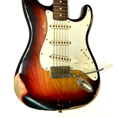 Big Tex Hand Made Strat Style Guitar Vintage Sunburst for sale