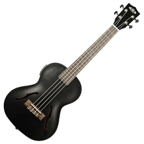 Kala KA-JTE/MTB Archtop Acoustic/Electric Tenor Ukulele w/ Pickup Metallic Black