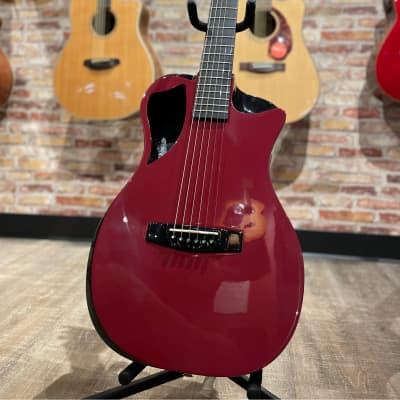 Journey OFF660 Collapsible Carbon Fibre Travel Guitar Burgundy for sale