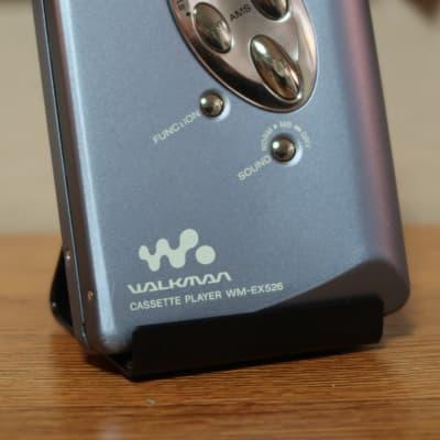 Sony WM-EX526 Walkman Cassette Player (Blue) with remote