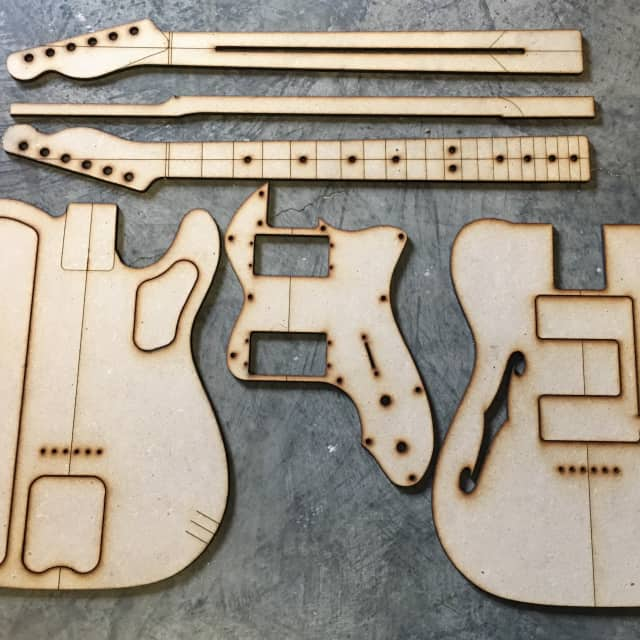 Guitar Building Templates Telecaster Thinline Template Luthier Tools 1972 image
