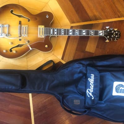 NOS 2008-09 PEERLESS Tonemaster Custom Jr w/ Bigsby Sunset Sunburst w/ Deluxe Padded Peerless Gig for sale
