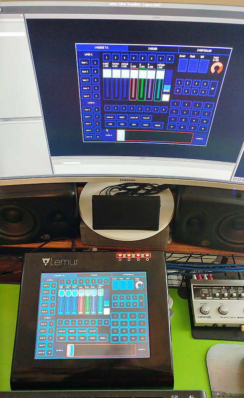 Jazzmutant Lemur Ver 2 Multitouch OSC to MIDI controller Complete w/ AC  cord + Software = Must Sell