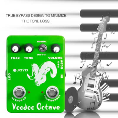 JOYO JF-12 Voodoo Octave Fuzz Effect Guitar Pedal Electric Bass Dynamic Compression Effects True Byp
