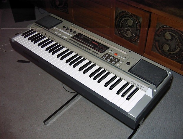 Vintage casiotone 7000 keyboard synthesizer original stand for Classic house organ sound