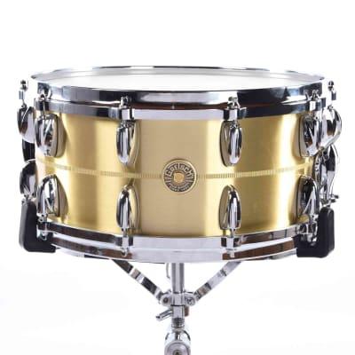 "Gretsch G4169BBR USA Custom Bell Brass 6.5x14"" 20-Lug Snare Drum"