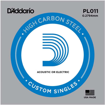 D'Addario Single Plain Steel 11