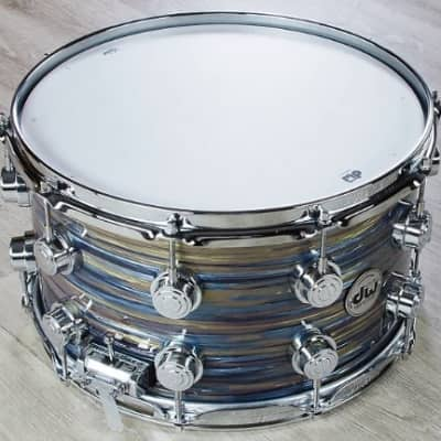 DW Drum Workshop Collector's Series 8'' x 14'' Maple / Peacock Oyster Snare Drum