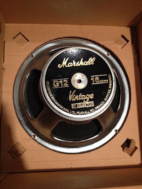 2 celestion vintage 30 marshall g12 vintage uk made 16ohm reverb. Black Bedroom Furniture Sets. Home Design Ideas