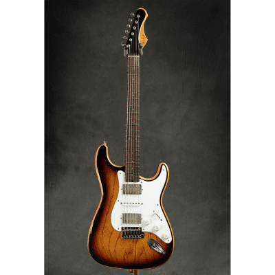 2017 Shabat Lynx Custom 1-piece Swamp Ash Body   3 Tone Burst for sale