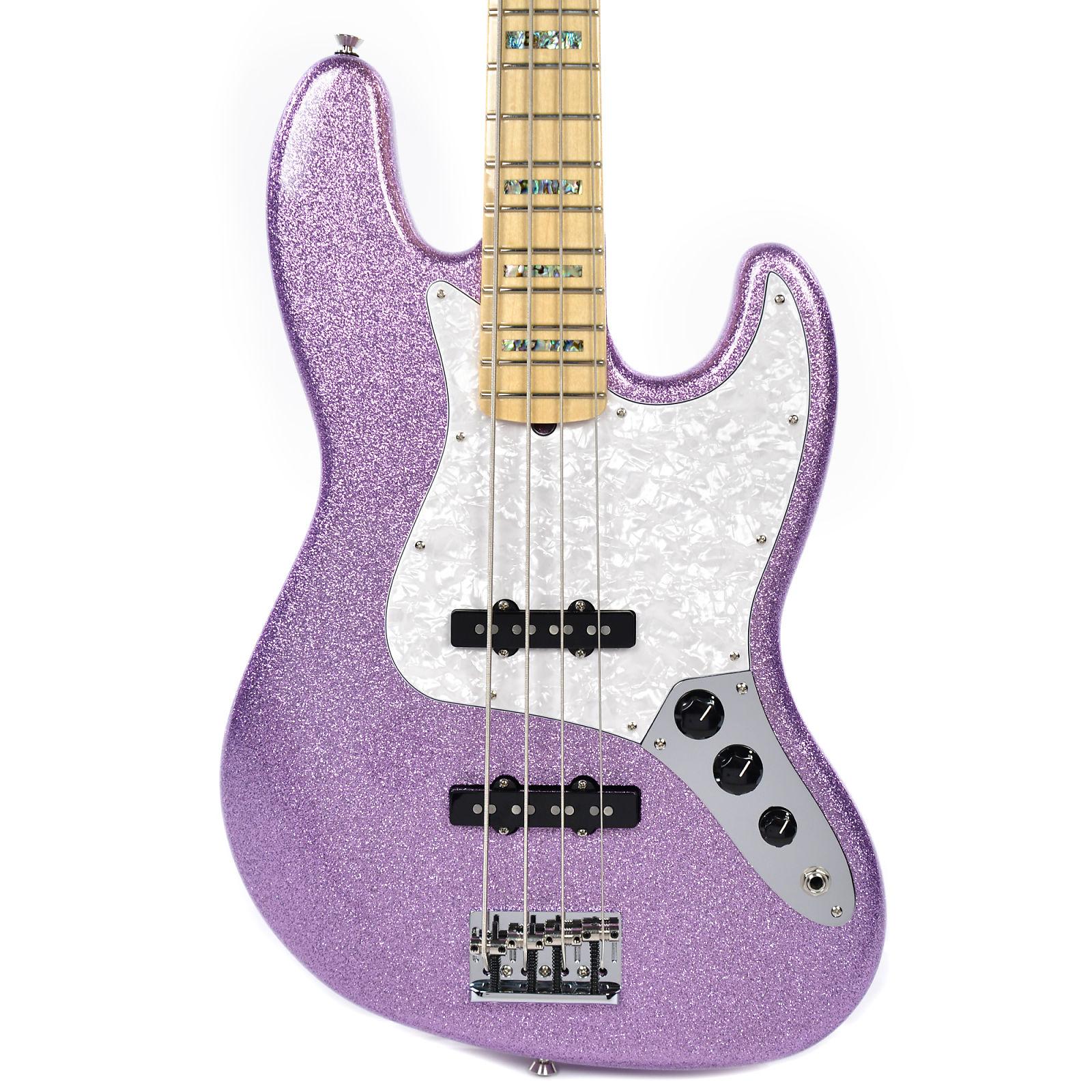 Fender Artist Series Adam Clayton Jazz Bass Purple Sparkle
