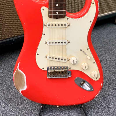 MJT S Style Guitar Fiesta Red for sale