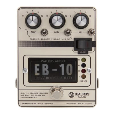 Walrus Audio EB-10 Preamp EQ Boost Cream for sale