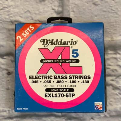 D'Addario XL5 Nickel Round Wound 45-130 Twin Pack Bass Strings