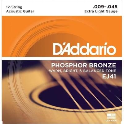 D´Addario EJ41 Phosphor Bronze 12 Strings 09-45