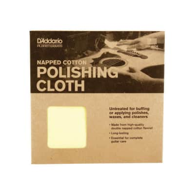 D'Addario PWPC2 Napped Cotton Polishing Cloth - Made in USA - NEW