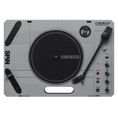 Reloop SPIN Portable DJ Turntable w/ Bluetooth Input, USB Recording, 7'' Vinyl