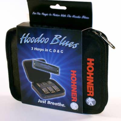 Hohner HBP Hoodoo Harp-Three Pak Keys of G,C,D W/Case